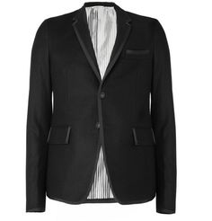 Thom Browne Grosgrain-Trimmed Slim-Fit Flannel Blazer | MR PORTER