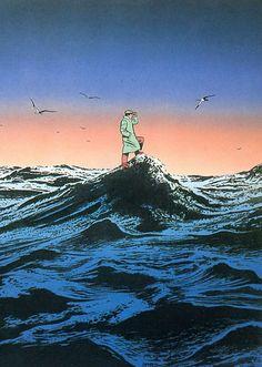 """Guy Billout é um artista francês que cria ilustrações surrealistas. O diferencial de seus trabalhos é que eles não são somente """"surrealistas"""", eles geralmente possuem cenários totalmente realistas …"""