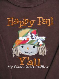My Pixie Girl's Ruffles    Happy Fall Y'all