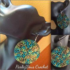 Crochet Earrings by ParlezVCrochet on Etsy