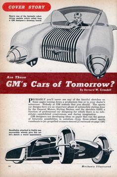 1950 - GM Cars of Tomorrow?  gotta say -- the robot's kind of creepy.