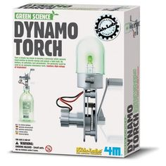 Science and play meet in the 4M Dynamo Torch from Toysmith, a DIY generator kit designed to teach children about electrical energy and alternative power. Best for kids 8 and up. Less than $10!