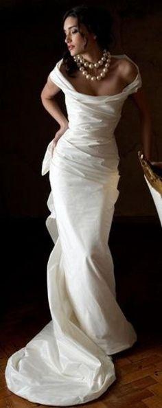 Rew Elliott: Wedding Gown Gallery: Love the neckline and shape