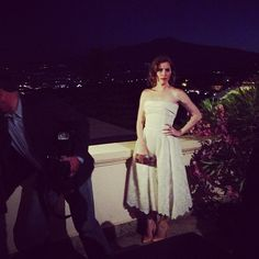 A vintage dress by Castellani and jewelry by Diamonique and Kenneth Jane Lane at the Taormina Film Fest 2013