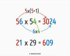 9 Ingenious Math Tricks We Weren't Taught at School Math For Kids, Fun Math, Math Worksheets, Math Activities, Math College, Multiplication Tricks, Maths Tricks, Mental Calculation, Math Magic