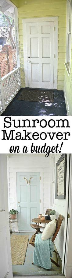 Sunroom makeover- on a budget!