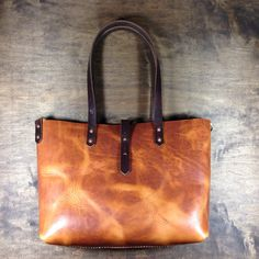 """koch leather tote -- small size -- 13""""x11""""x4"""", horween leather, $175"""