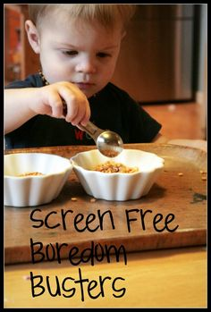 Screen Free Boredom Busters including painting story stones.