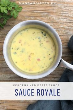 Sauce royale - opskrift på verdens nemmeste sovs Dip Recipes, Sauce Recipes, Real Food Recipes, Cooking Recipes, Recipies, Keto Sauces, Low Carb Sauces, I Love Food, Good Food