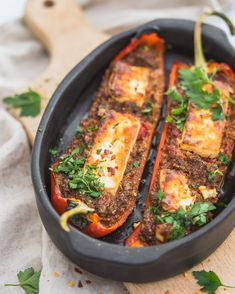 Gevulde zoete parika met champignons en fetakaas - Eenvoudig én lekker. En dus een must try veggie cookamealtje! Healthy Summer Recipes, Healthy Breakfast Recipes, Healthy Eating, Clean Eating, Healthy Food, Pureed Food Recipes, Veggie Recipes, Vegetarian Recipes, Portobello