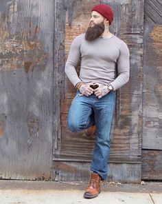 Epic #beard dude looks cool #manly #beardstyle www.localbeardoil.co.uk