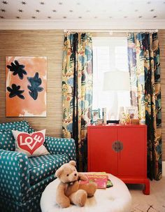 Paint or wallpaper the ceiling to make the room look taller. | 19 Foolproof Ways To Make A Small Space Feel So Much Bigger