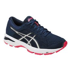 sports shoes 8c1fa a72d6 Women s ASICS GT-1000 6 Running Shoe - Insignia Blue Silver Rouge Red  Running Shoes