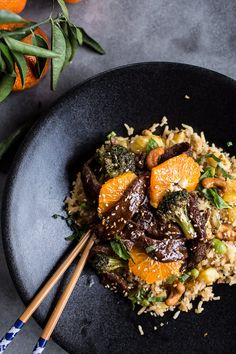 Better than takeout by far: Orange Teriyaki Beef with Pineapple Edamame Fried Rice #weeknight #dinner