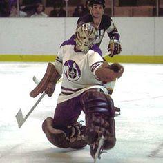bob whidden stops one against new england Hockey Logos, Hockey Goalie, Hockey Games, Hockey Players, Ice Hockey, Boston Bruins Goalies, Goalie Mask, Masked Man, Best Games
