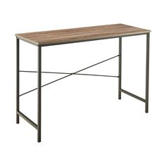 ClosetMaid's Gray Mixed Materials Desk is a great versatile piece for any room in the home. Featuring a wood surface and sturdy table legs, this desk is the perfect mix of style and function. ClosetMaid's Gray Mixed Material Desk has a sleek, slender design that adds creativity to the contemporary or modern style home decor. <br><br>Required tools- Hex key (included)