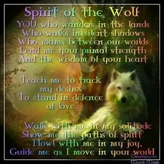 Discover and share Wolf Spirit Quotes And Sayings. Explore our collection of motivational and famous quotes by authors you know and love. Spirit Animal Totem, Animal Spirit Guides, Animal Totems, Spirit Quotes, Native American Wisdom, Wolf Stuff, Power Animal, Wolf Quotes, Wolf Love