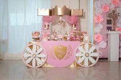 15 Princess Party Decorations, Princess Theme Party, Disney Princess Birthday, Baby Shower Princess, Birthday Party Decorations, Baby Girl Birthday Theme, 3rd Birthday Cakes, Bday Girl, 1st Birthday Parties