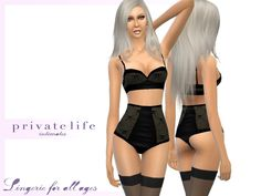 The Sims Resource: Lise Charmel inspired lingerie set by zorgsprivatelife2000 � Sims 4 Downloads