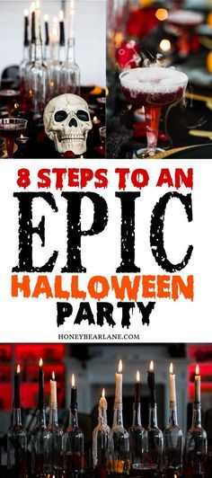 8 steps to an epic Halloween party. 8 steps to an epic Halloween party. Related posts:Halloween Party Games for Teenagers Halloween Tags, Halloween 2018, Cocktails Halloween, Happy Halloween, Halloween Designs, Theme Halloween, Halloween Food For Party, Halloween House, Holidays Halloween