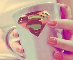 Pink supergirl coffee mug I Love Coffee, Coffee Break, My Coffee, Morning Coffee, Coffee Mugs, Coffee Tumbler, Supergirl, Frappuccino, Pause Café