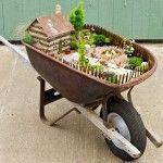 El Arabasının İçine Minyatür Bahçe Nasıl Yapılır