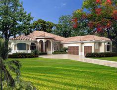 Elevation of Florida   House Plan 55897