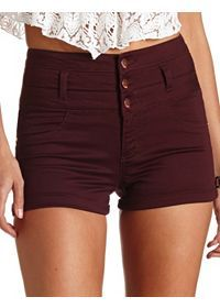 I LOVE BORDEAUX RED and in combination with High Waisted I admire it!! Totally Trendy