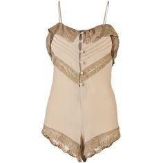lovely vintage-style silk lingerie jumpsuit