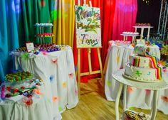 Decoração para mesa Festa Pintando o Sete