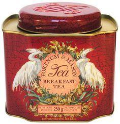 Breakfast tea tin