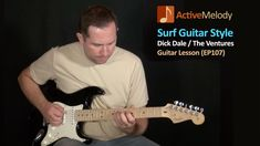 Simple Surf Lead and Rhythm Guitar Lesson - Dick Dale Style - Guitar Musical Instrument, Guitar Songs, Guitar Tabs, Guitar Chords, Acoustic Guitar, Surf Guitar, The Ventures, Guitar Youtube, Guitar Riffs