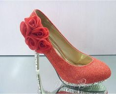 Fashionable Red PU Upper Stiletto Heels Closed-toes Wedding Bridal Shoes : dressbuying.com