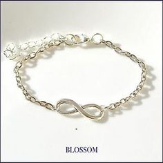 Bracciale infinito argentato, infinity bracelet silver plated