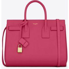 Saint Laurent Classic Small Sac De Jour Bag In Lipstick Pink Leather
