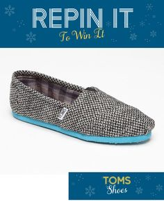"""Would you like to win this pair of TOMS Shoes from Nordstrom? Repin this image to your """"Downtown PDX Wish List"""" board and enter here: http://www.facebook.com/downtownportland/app_143103275748075. To unlock this prize, 20 repins are required. Enter by December 28."""