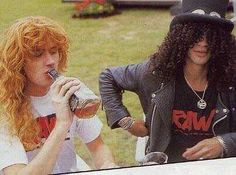 Dave Mustaine & Slash... Megadeth & Guns N' Roses