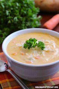 Eat Cake For Dinner: Cheesy Vegetable Soup