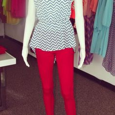 Red Jeggings - Hillary's Boutique