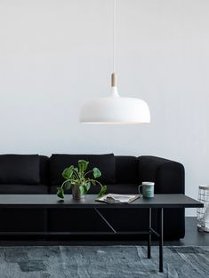 'Minimal Interior Design Inspiration' is a biweekly showcase of some of the most perfectly minimal interior design examples that we've found around the web - Interior Design Examples, Interior Design Inspiration, Daily Inspiration, Living Room Decor, Living Spaces, Berlin Design, White Pendant Light, Luminaire Design, Contemporary Interior