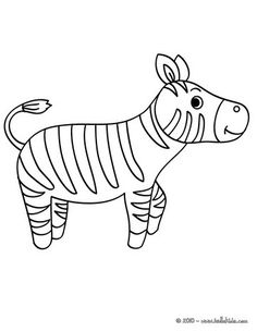 zebra coloring pages 4  kids craft ideas  Pinterest  Kids