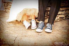 Converse bride + groom - LOVE!