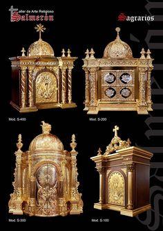 Sagrario tabernacle wood and gold leaf and metalware arte religioso salmeron