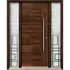Exterior fiberglass door- single door with two full glass sidelights - model FR20