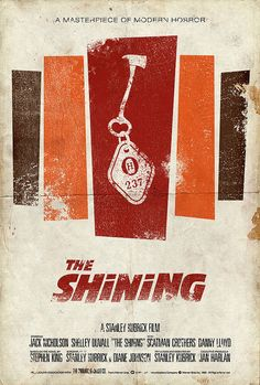 Original movie poster: The Shining ▪️Stanley Kubrick (1980)