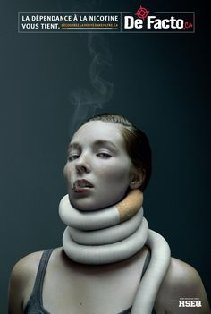 De Facto: Nicotine addiction - woman | Ads of the World™