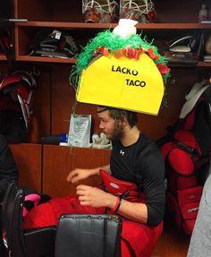 "Eddie Läck and his new ""Lacko Taco"" hat"