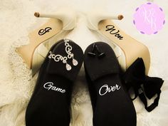 Hey, I found this really awesome Etsy listing at https://www.etsy.com/listing/260271223/wedding-shoes-decal-set-i-won-game-over