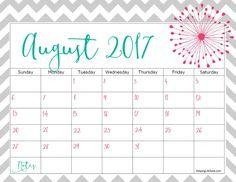 August 2017 Calendar Page, 2017 August Calendar Page, August Calendar Page, Calendar Page August 2017