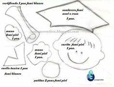 Niño graduado molde